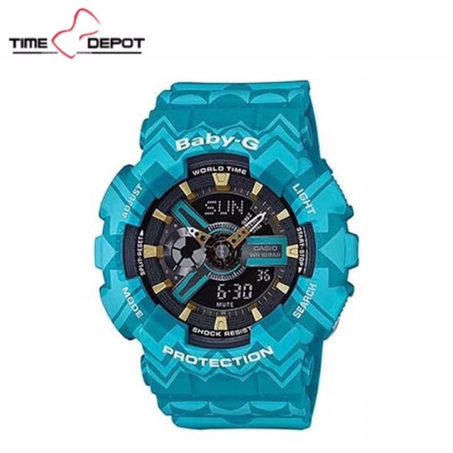Casio Tribal Blue Green Baby-G