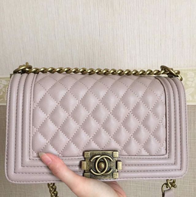 Chanel Boy Nude PINK