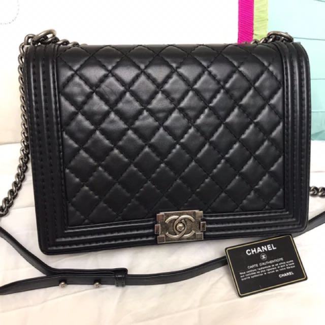 57cf2f9e9363 Chanel Boy (Large), Luxury, Bags & Wallets on Carousell