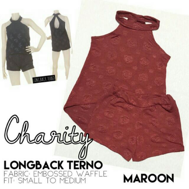 Charity Long Back Terno