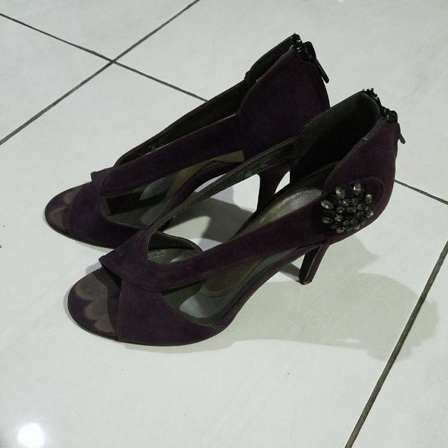 Charles And Keith Purple Pumps, Heels, Shoes  Sz 38