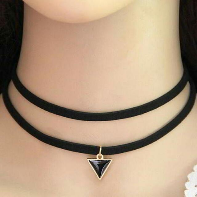 Choker Triangle Double Layer