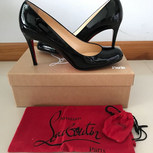 5019017a44af Christian Louboutin Simple Pump Patent Black 85mm