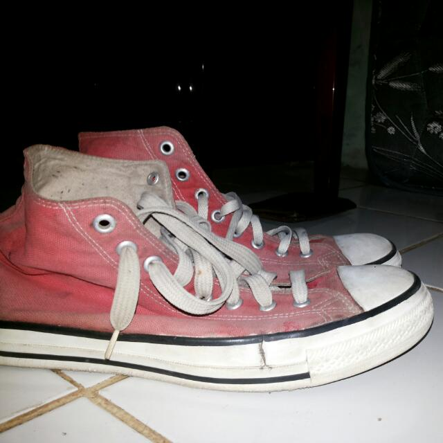 Converse Ct Red Hi Vintage Uk 45