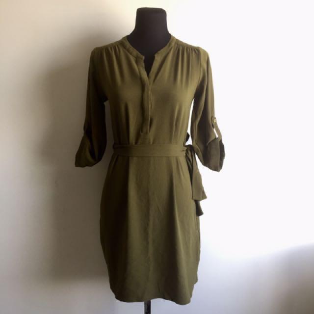 Dorothy Perkins Army Green Dress
