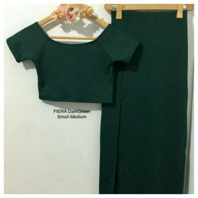 Feira Crop Top w/ Skirt