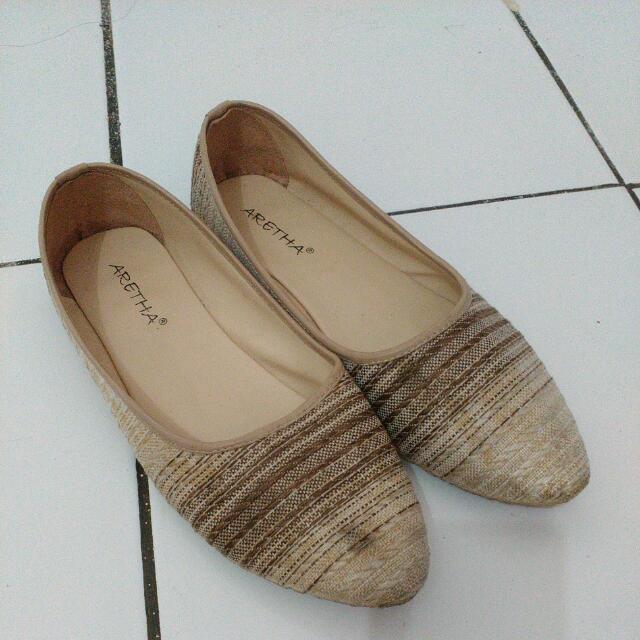 Oct Sale (Flat shoes tenun) repriced