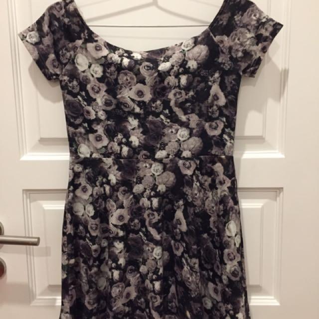 Flower Gray Dress