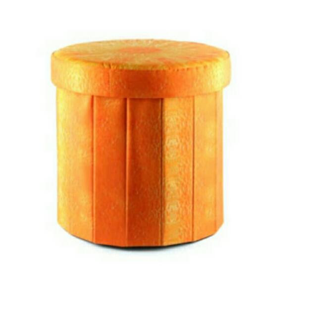Seat storage / Folding storage ottoman krishome (ace) / sofa penyimpanan -Orange