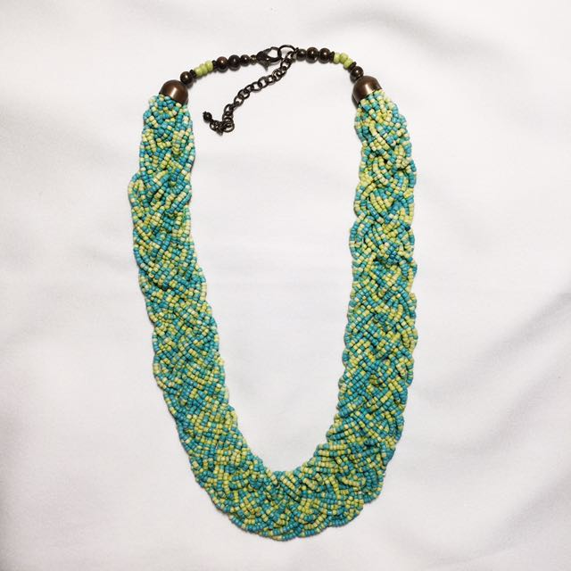 Forever 21 Braided Beads Necklace