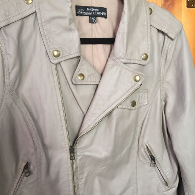 Genuine Leather Just Jeans Jacket