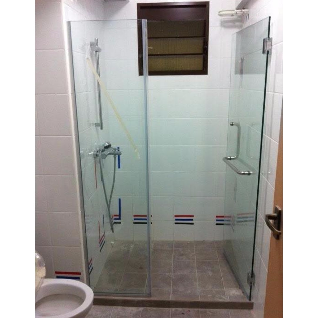 Glass To Wall Shower Screen 450 For Hdb Bto Call