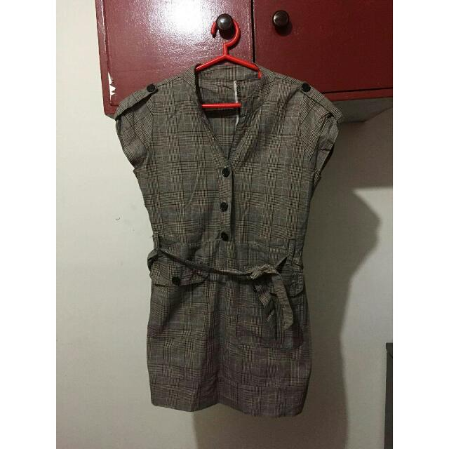 (REPRICED) Gray Button-up Dress