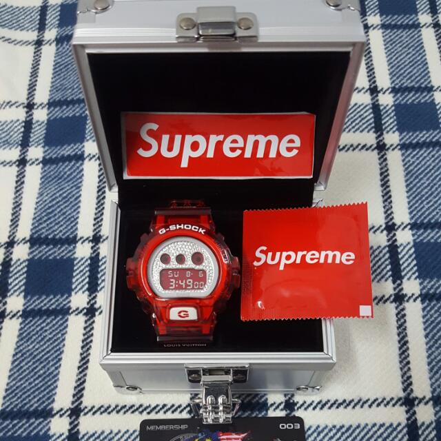 G-shock Dw6900LVS Custom LV X SUPREME Original Watch, Men's