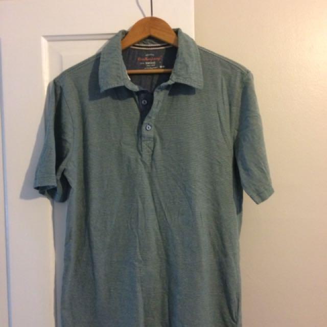 Heathered-Green Golf Shirt (medium)