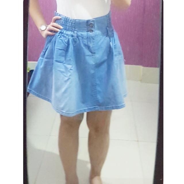 Jeans A Line Skirt
