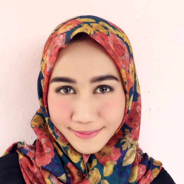 Jilbab Segi Empat 2 Tone