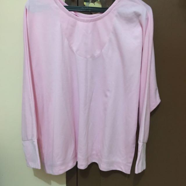 Kaos Panjang Pink