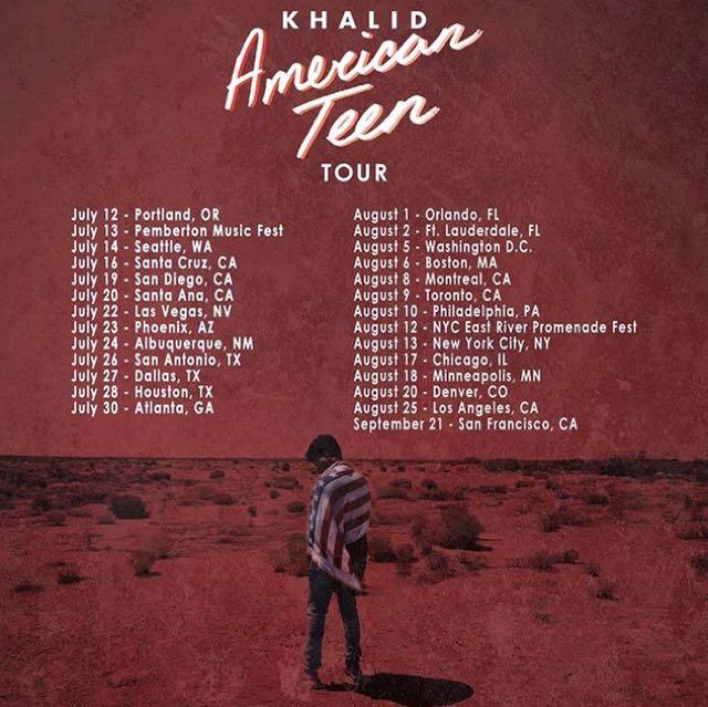 Khalid American Teen Tour