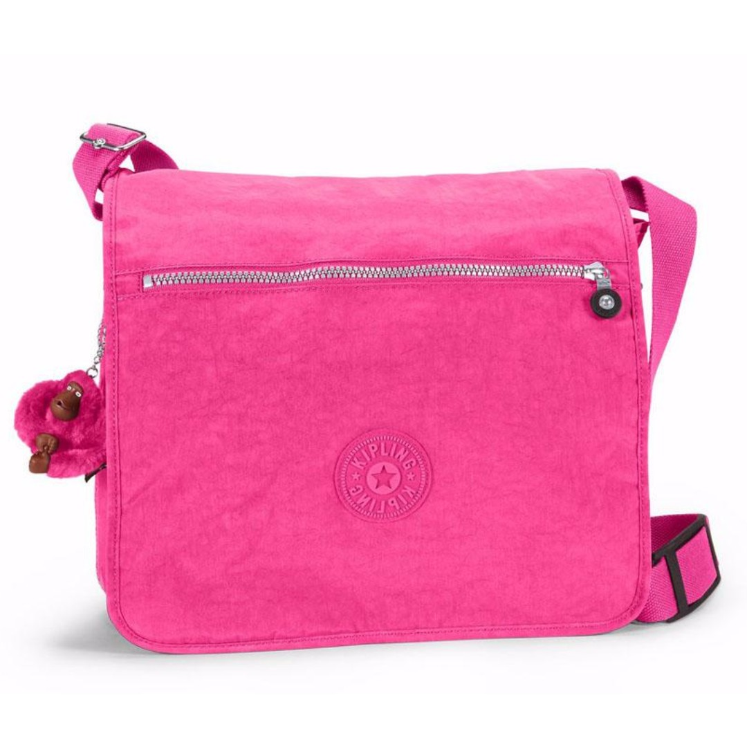 Kipling Madhouse Expandable Messenger Bag In Very Berry