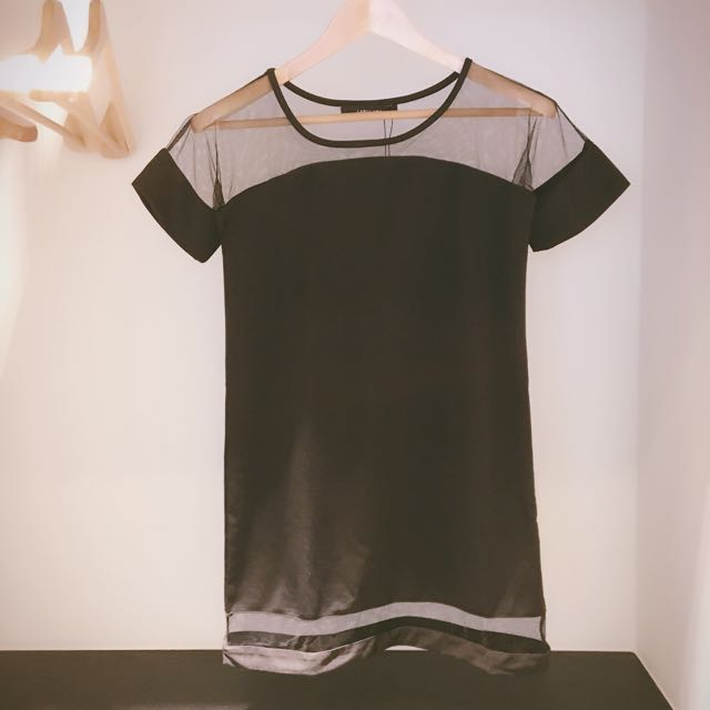 LABU LABU 全新網紗拼接洋裝