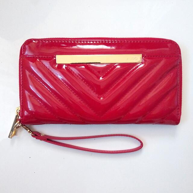 Leather Aldo Wristlet/Wallet