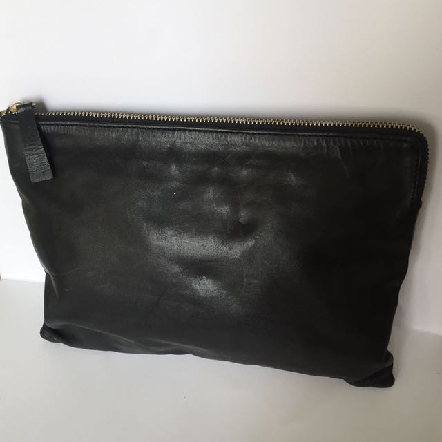 Leather Mens Pouch Clutch Bag