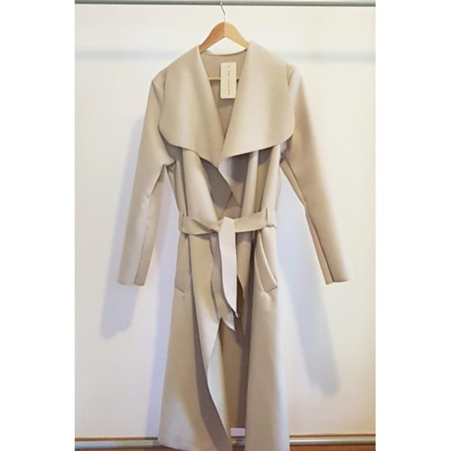 Light Beige Waterfall Coat