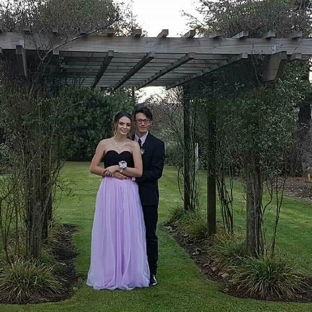 Lilac/Black Ball Dress