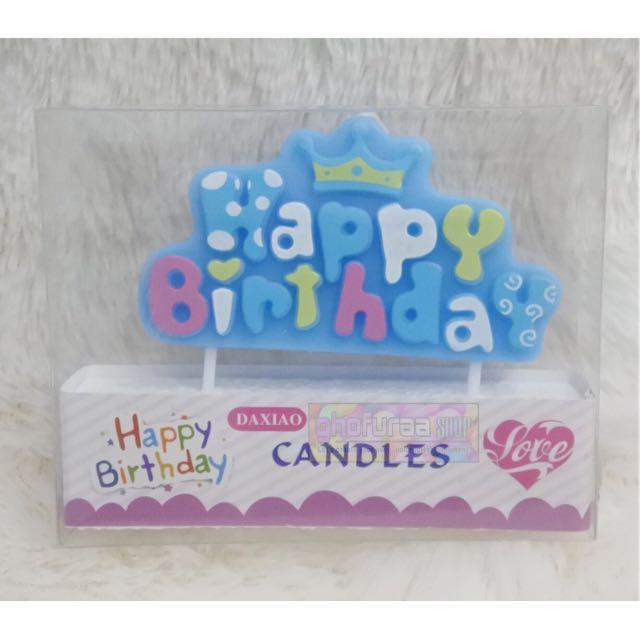 Lilin Motif happy birthday - Hiasan kue Ulang Tahun