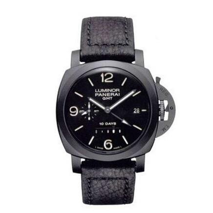 【獨特】沛納海Luminor系類PAM00335腕錶 男錶 機械錶 陶瓷皮帶黑色大氣手錶