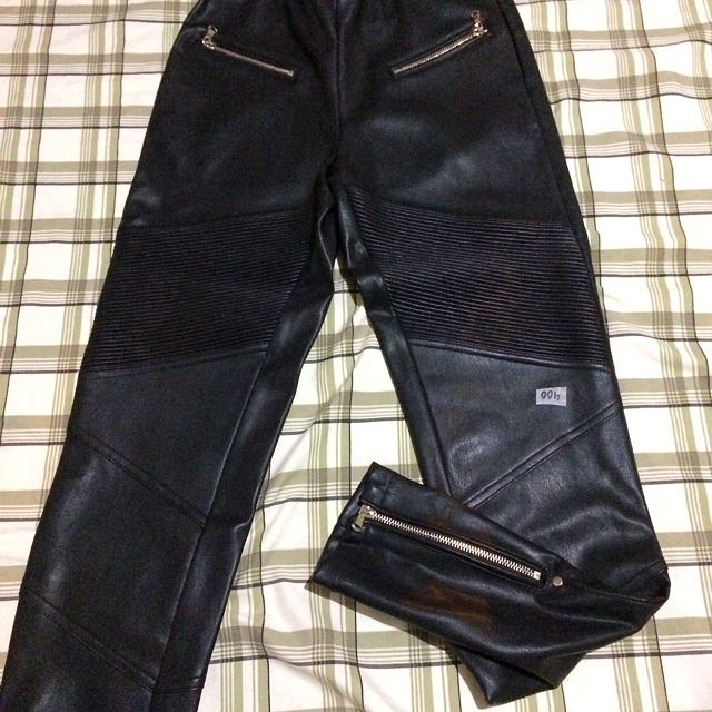 Mango Leather Pants