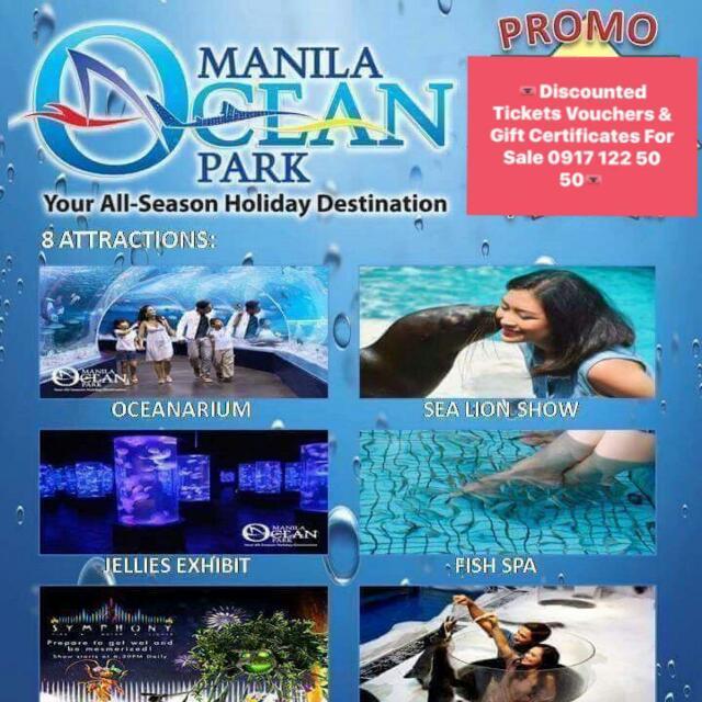 Manila Ocean Park Ticket : P380.00 (original price is P990.00) SALE SALE SALE