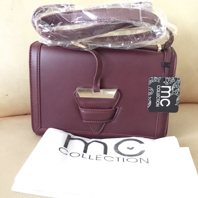 MARIE CLAIRE MAROON BAG
