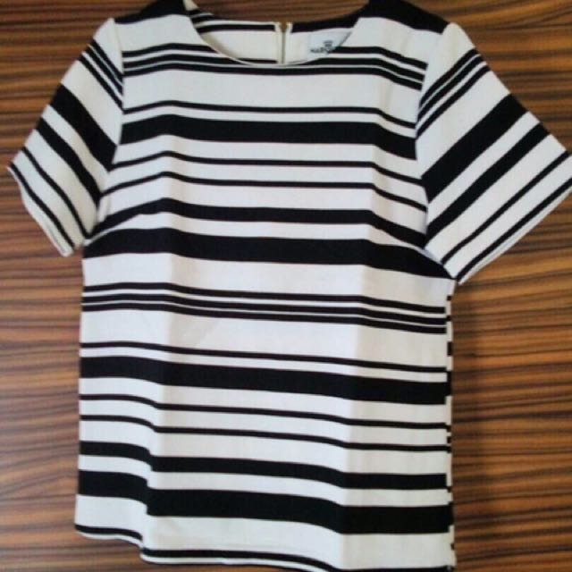 Mariquinn Stripes Blouise (black and white)