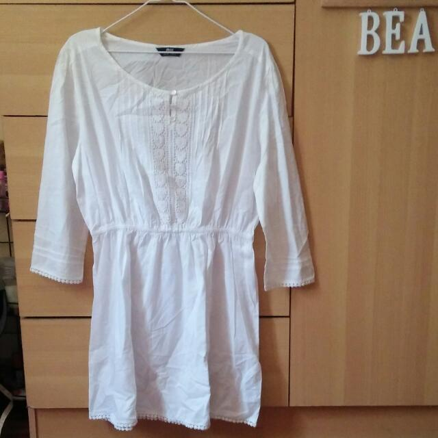 MAX White Short Dress