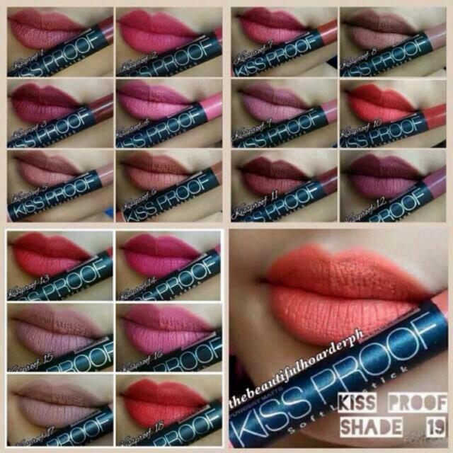 Menow Kissproof Matte Lipsticks