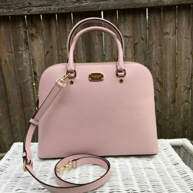 97dbdd32dd8c Michael Kors Cindy Large Dome Satchel in Blossom, Women's Fashion, Bags &  Wallets on Carousell