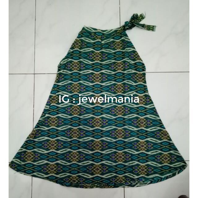 Mini Dress Green Batik