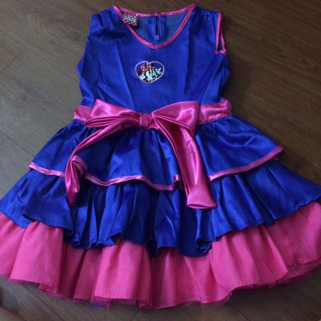 Minnie Mouse Blue And Pink Dress