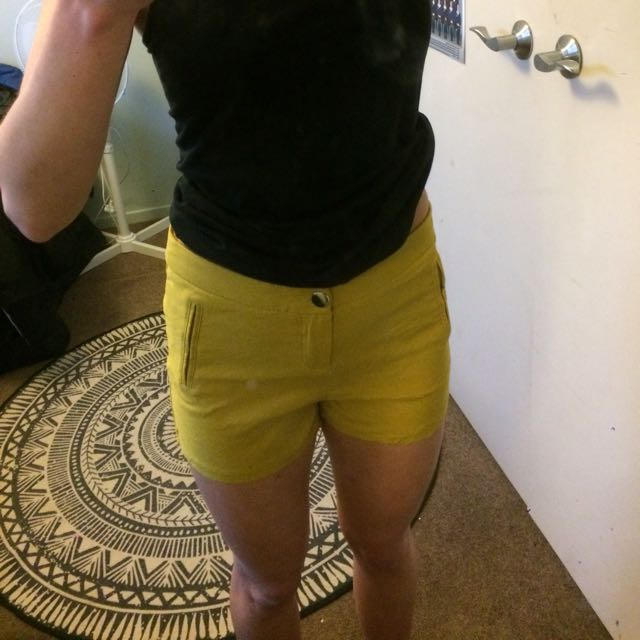 Mirror Mustard Coloured Hot Pants