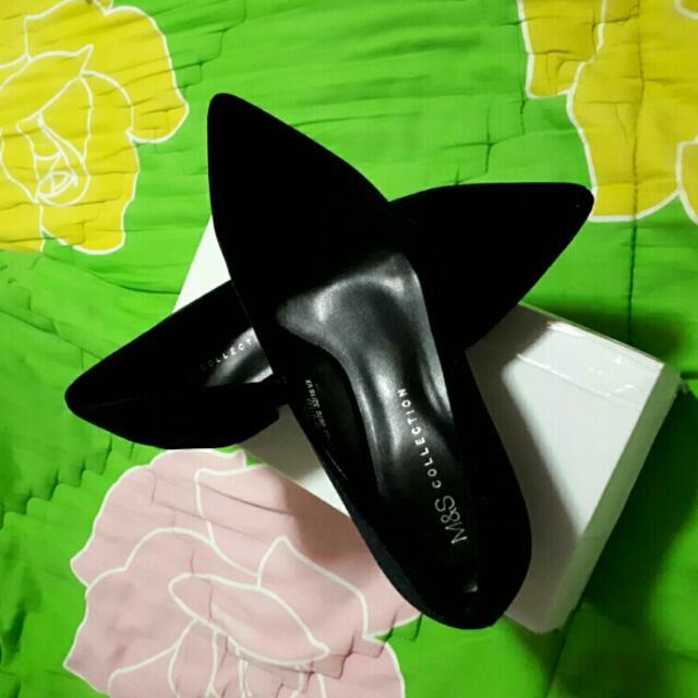 Marks & Spencer Black Velvet Shoes