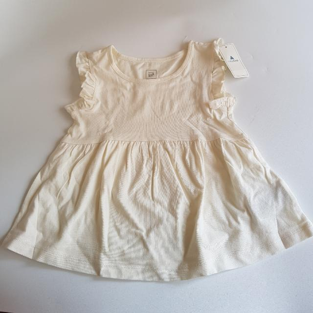 [NEW] Baby GAP Basic Dress White 12-18 Months