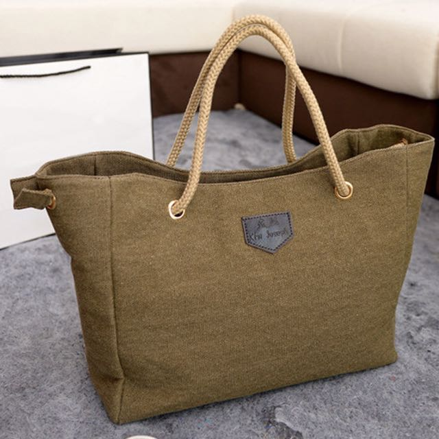 New Fashion Women Canvas Contracted Large Bag