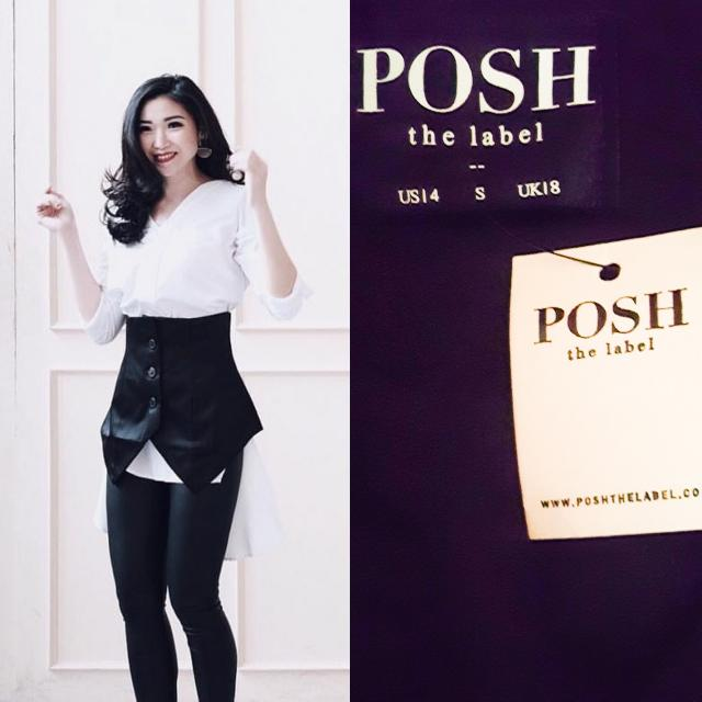 (NEW) Posh The Label Delight Crop Vest // Luaran Wanita