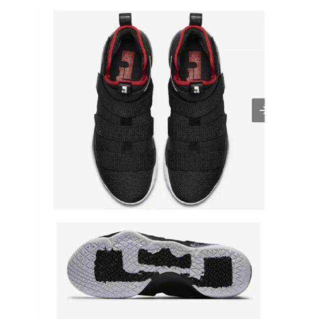 timeless design 75459 2a43c Nike LeBron Soldier 11 'Bred', Black & Red, Size: us9.5 ...