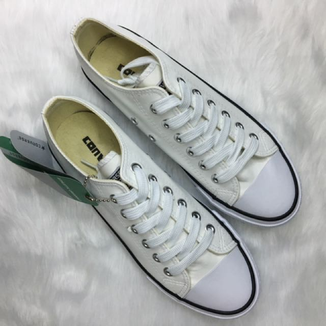 Off White Low Cut Leather Converse