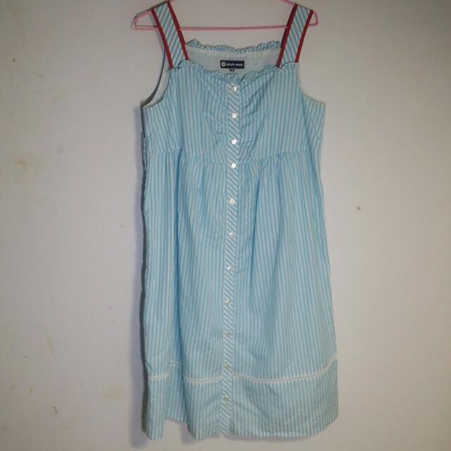 Ohoh Mini Pin-Up風格 無袖連身裙 孕婦裝 大尺碼