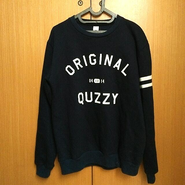 3b40a4ba2 Original Quzzy Sweater Navy size L, Men's Fashion, Men's Clothes on  Carousell