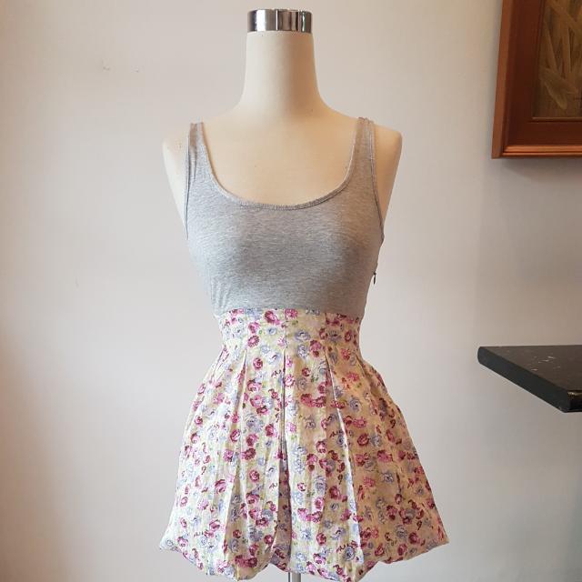 ORIGINAL TOPSHOP FLORAL STRETCH DRESS SIZE S FIT TO M